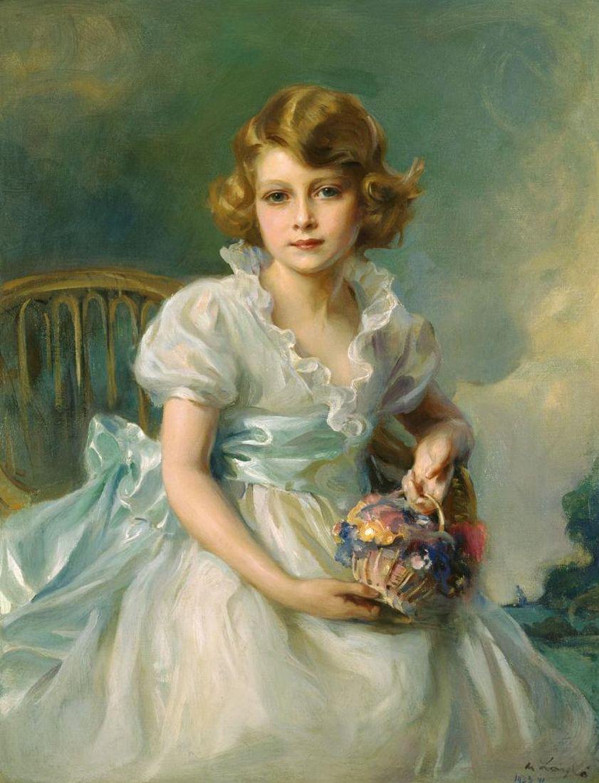 Queen Elizabeth II at age 7 by Philip de Laszlo Princess