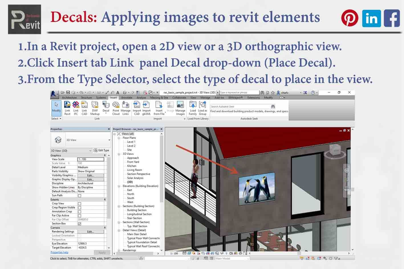 Decals In Revit Paneling How To Apply Projects
