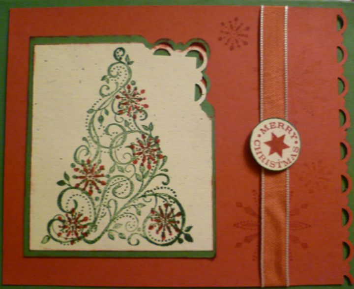 Snow Swirled Sparkly Tree By Angieh29 Cards And Paper Crafts At