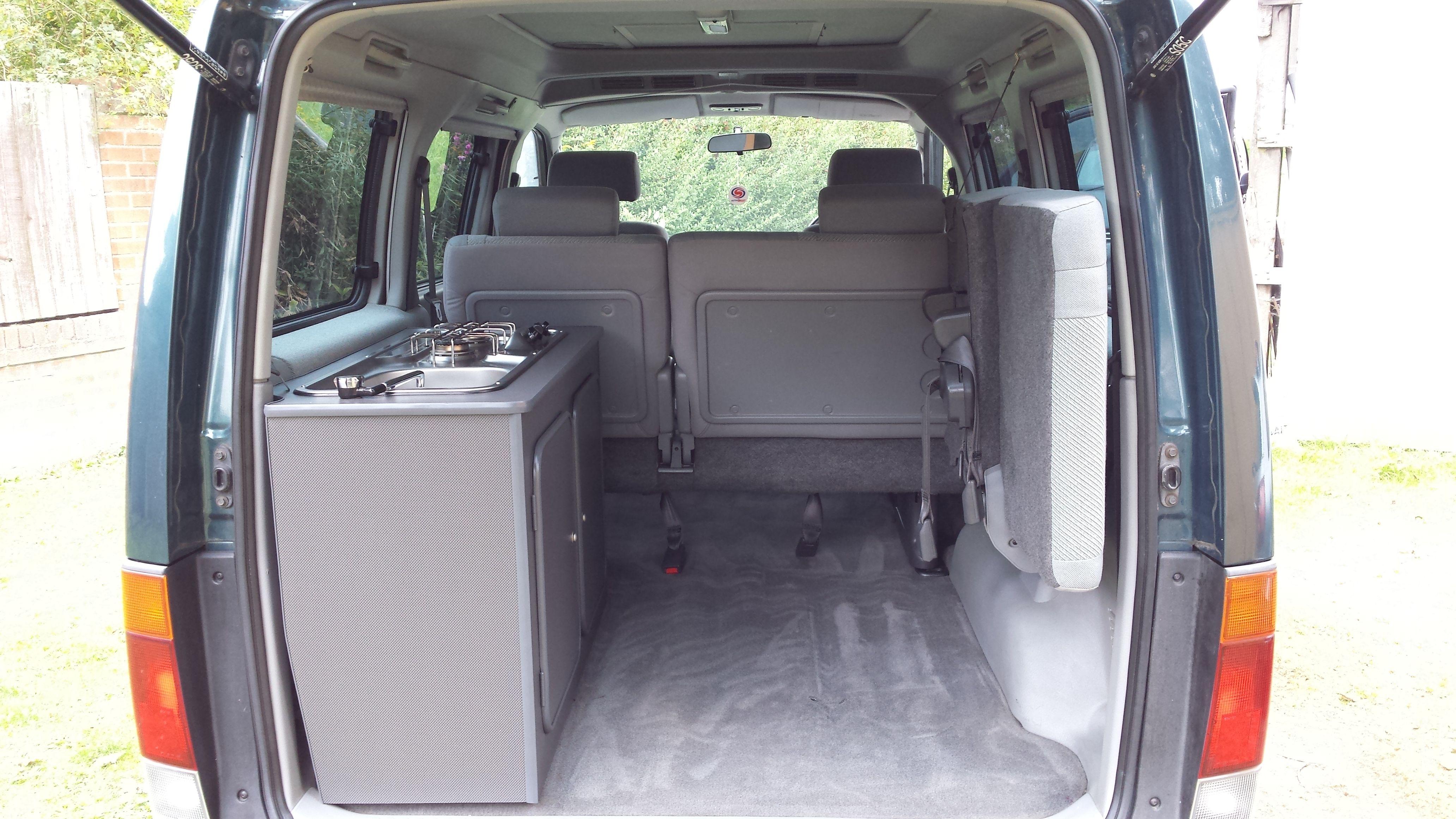 Bongo 6th Seat Folded Away Leaving Loads Of Storage Space Bongo Campervan Mazda Bongo Delica Van