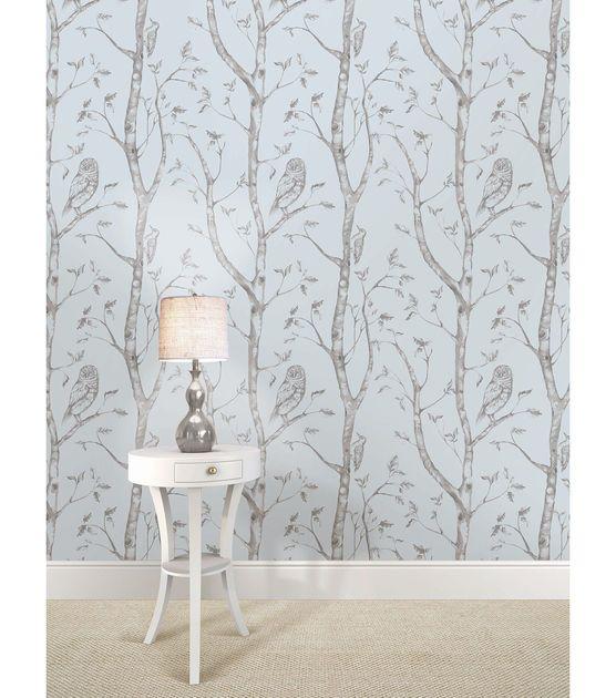 Wallpops Nuwallpaper Blue Woods Peel And Stick Wallpaper Jo Ann Peel And Stick Wallpaper Blue Wood Grey Wood