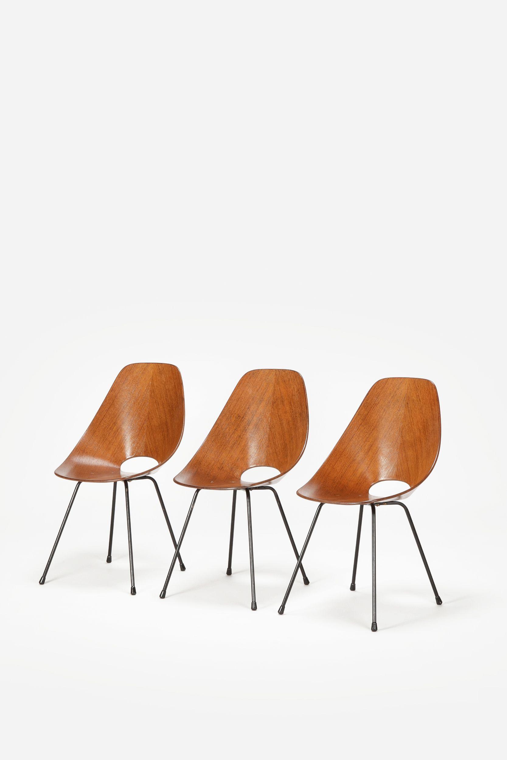 3 Medea Chairs Vittorio Nobili 50 s Interior Style