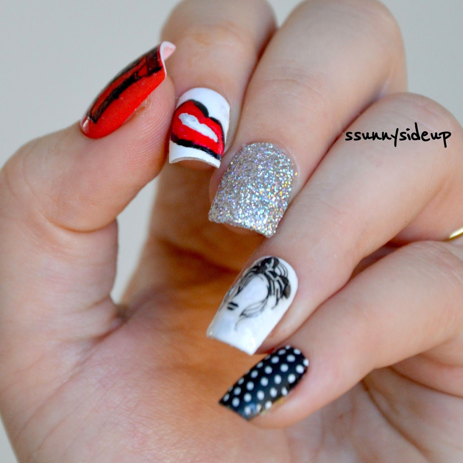 ssunnysideup: Rockabilly nails done with three different moyou ...