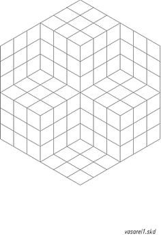 victor vasarely coloring pages | Op Art Vasarely | disegno | Pinterest | Art, Dessin e Art ...