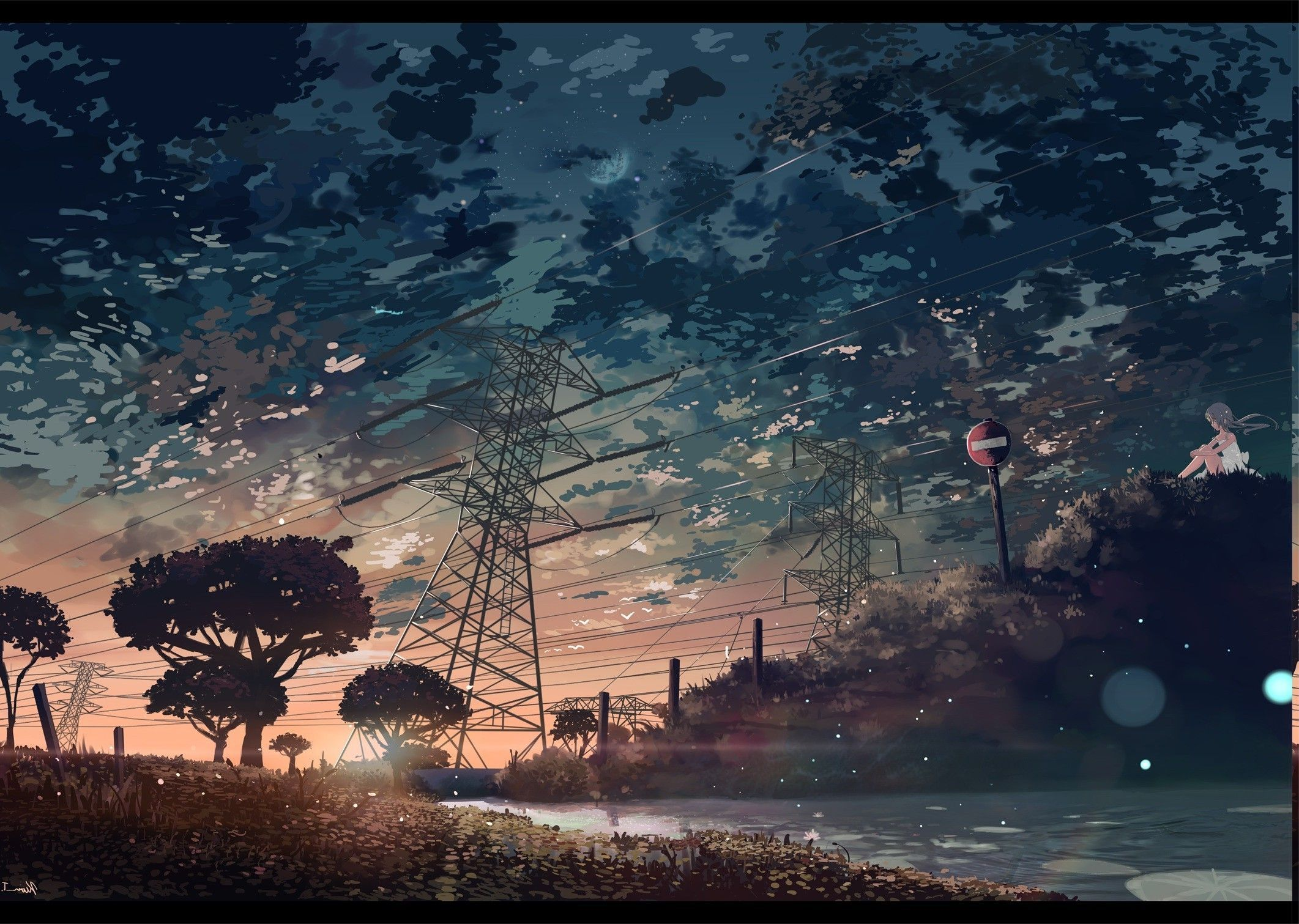 2123x1511 Anime Nature Wallpaper 77 Images Landscape Wallpaper Scenery Wallpaper Aesthetic Wallpapers