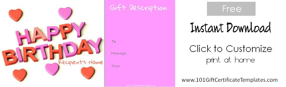 Birthday Gift Certificate Templates I Love Avon Pinterest - birthday gift coupon template