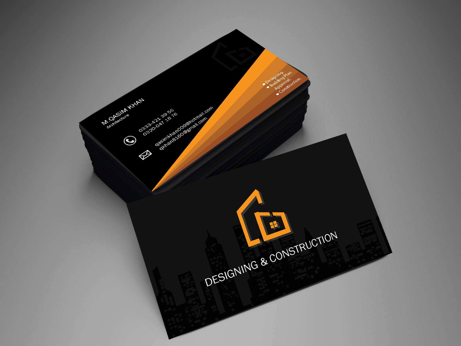 Pin On Business Card Design For Construction Company
