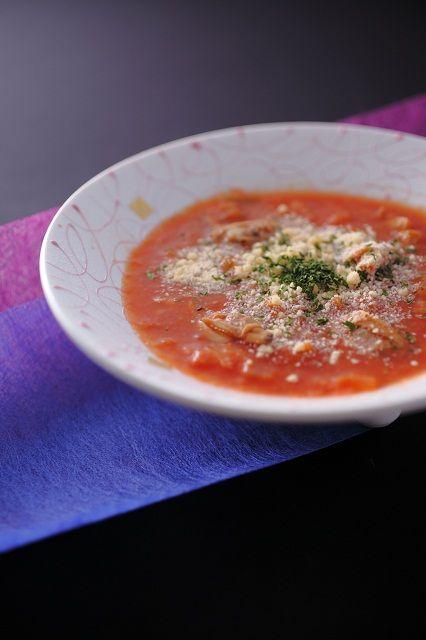 【美湖膳】お料理一例 <信州美味スープ>具だくさん信州野菜のチャウダー