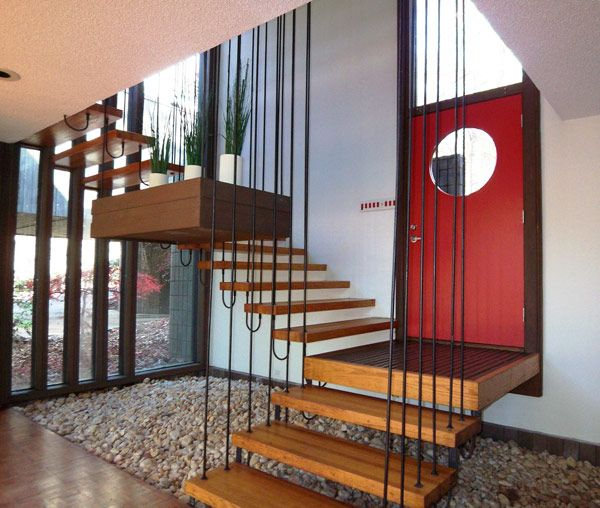 33 Staircase Designs Enriching Modern Interiors With: Promontory House By Lawrence Allen Bernstein