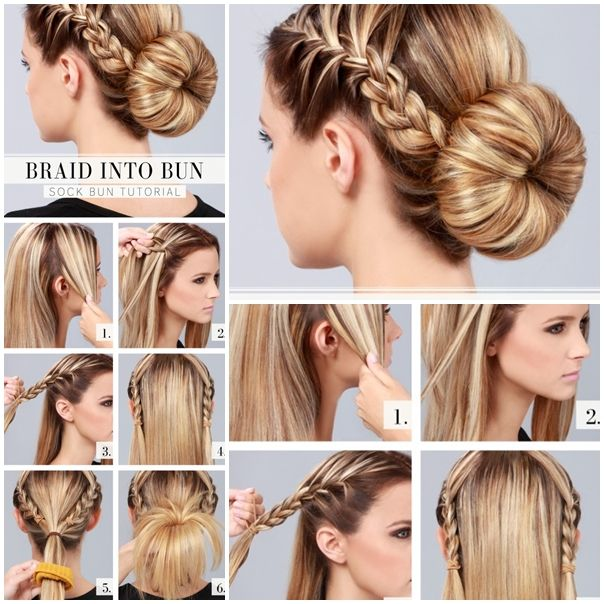 Diy Braided Hairstyles: Wonderful DIY Braid Into Bun Hairstyle