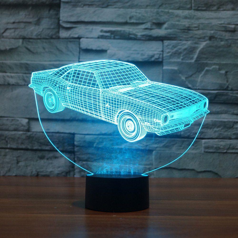 Autozimmer 3d Lampe Nachtlicht Fur Auto Fans Led Lampe Lampe Nachtlicht