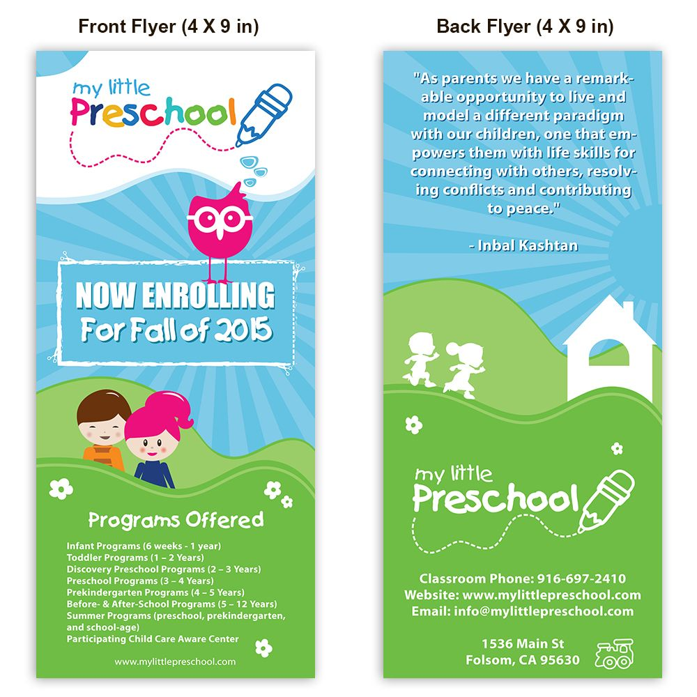 preschool poster template design playschool poster daycare flyer template documents in vector eps psd
