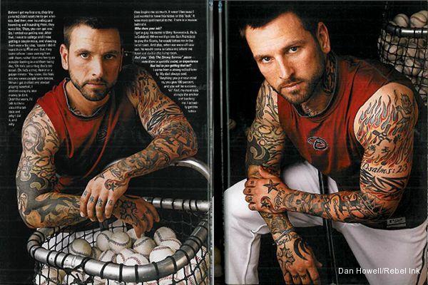 Tatman Roberts Covers D Backs On Field Himself With Tattoos Celebrity Tattoos Diamondbacks Tattoos