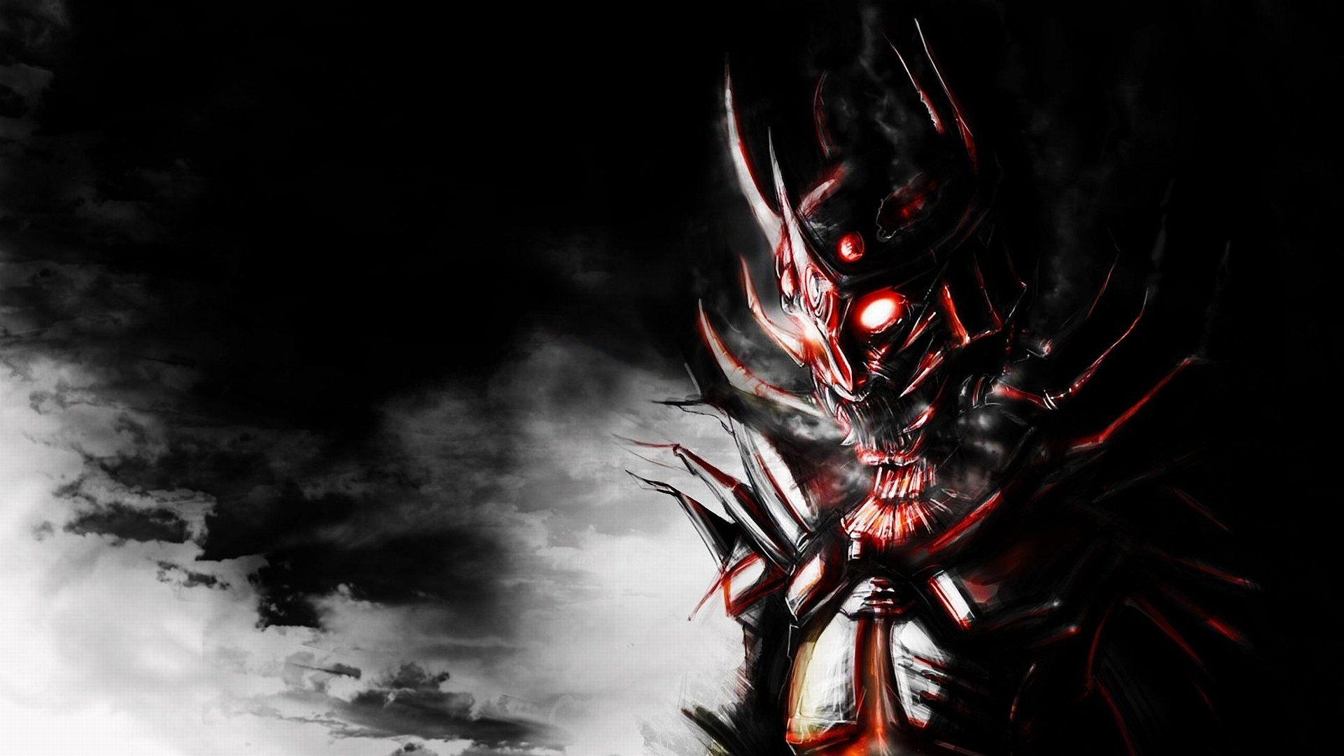 Scary Demon Wallpaper In 2019 Samurai Armor Daedric Armor
