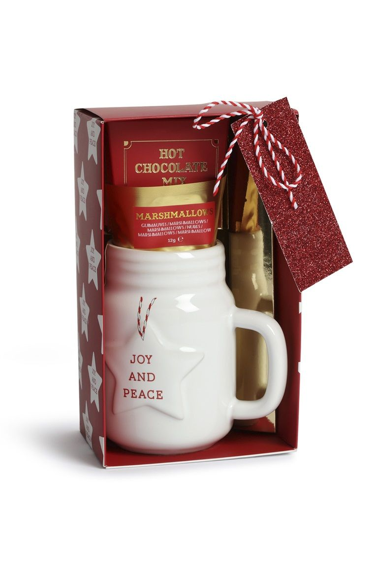 Christmas Gift Sets 2019.Primark Christmas Mug And Hot Chocolate Gift Set Holiday