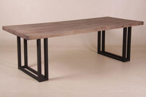 Dale Esstisch Industriedesign Altholz Eiche Metall Beine Tisch