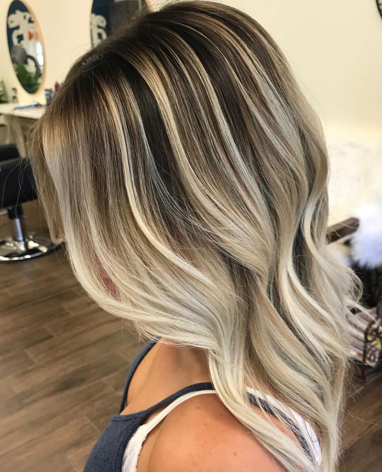Stunning Balayage Using Contrast And Depth To Highlight The