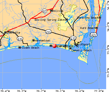 Map Of Oak Island Nc Oak Island, North Carolina (NC 28465) profile: population, maps