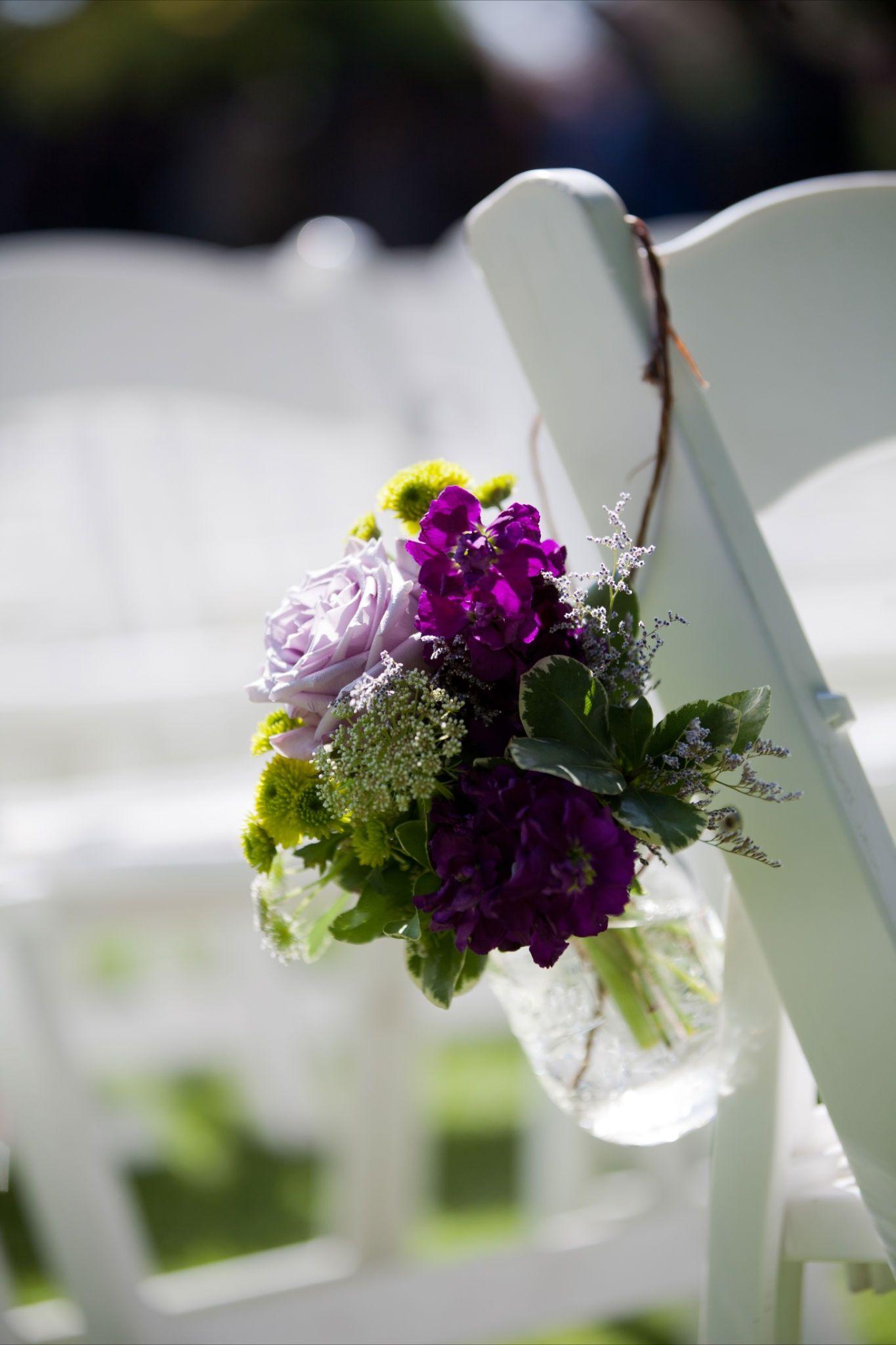 Aisle Decor Mason Jar Calla Lilies Purple Wedding Flowers Clark Estates Mason Jar Aisle Way