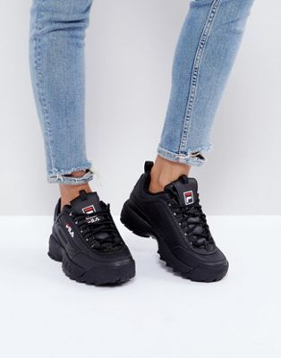 Discover Fashion Online | Black fila shoes, Fila outfit