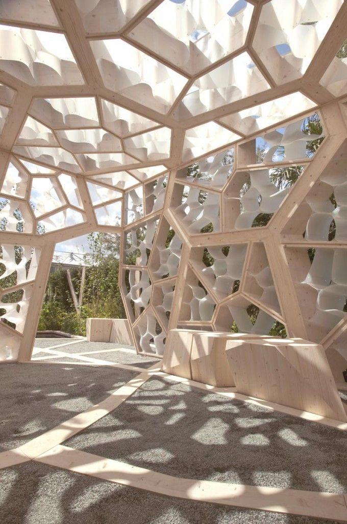 NEX - Times Eureka Garden Pavilion, Kew Gardens - Cellular growth with Timber structure