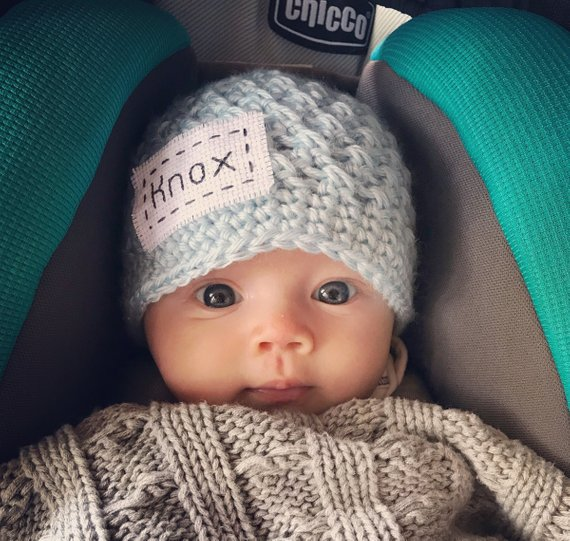 Personalized Newborn Baby Hat 7648903075a