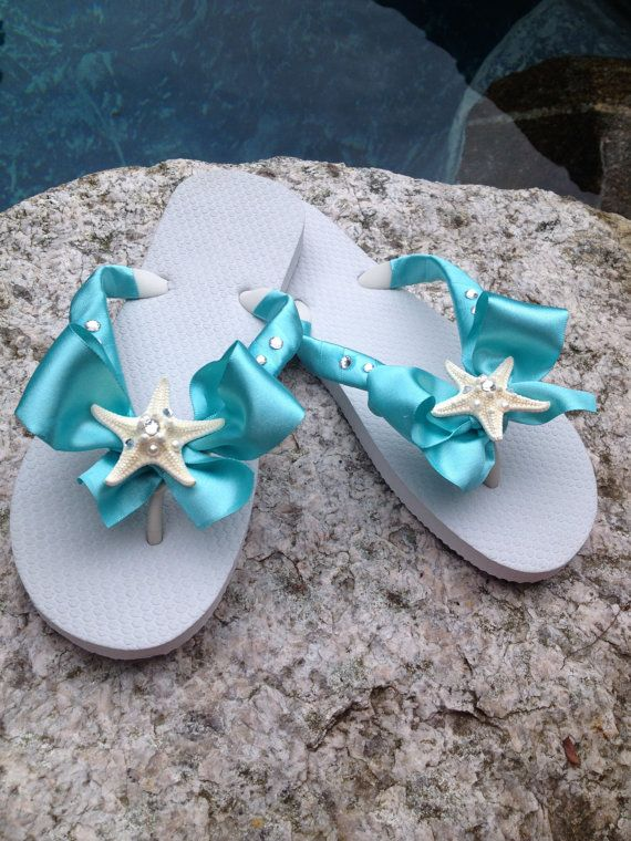 431b66a3f Wedding Bridal Shoes Flip Flop Wedges for the by RocktheFlops ...
