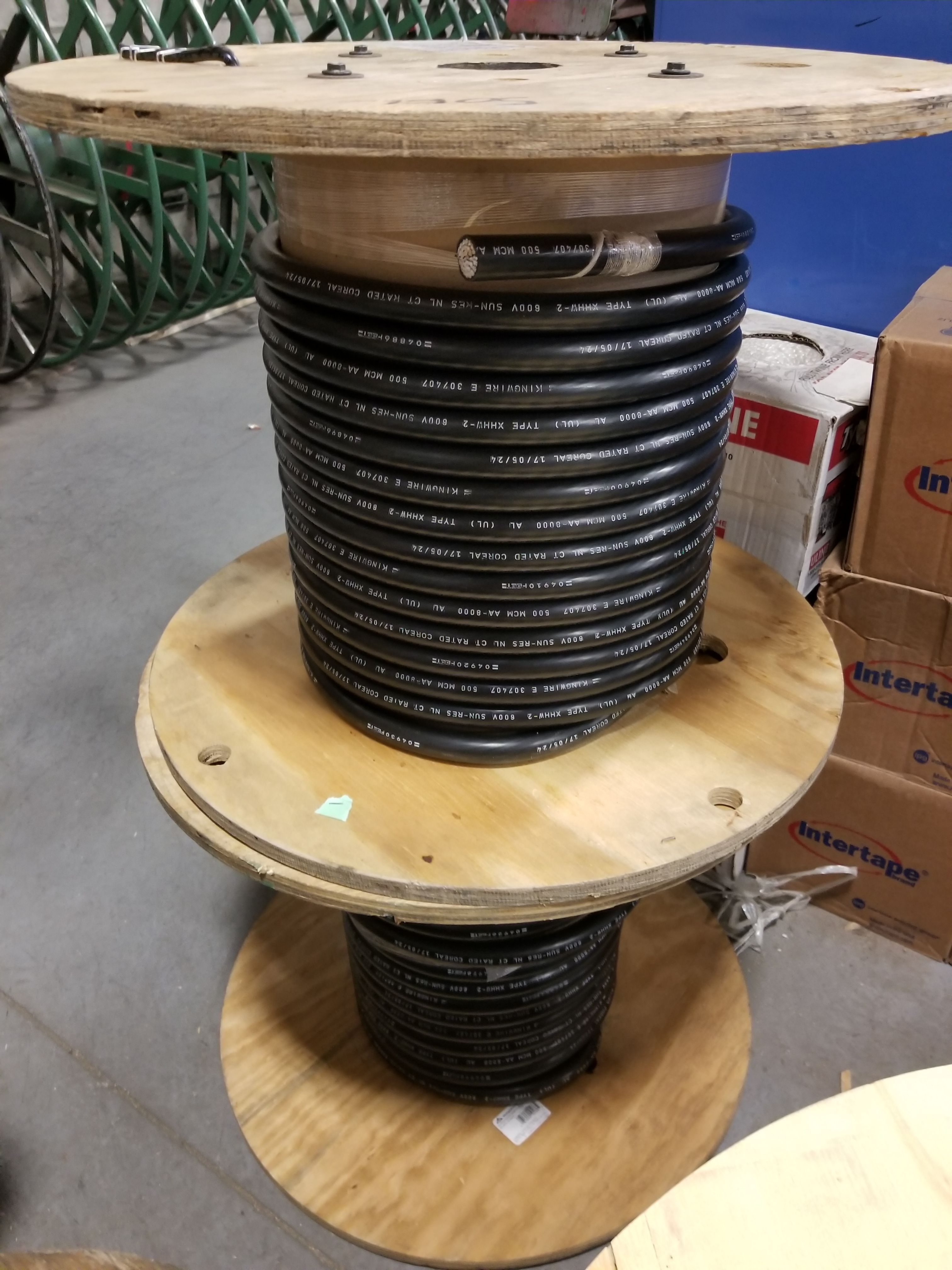 Spools of 500MCM #Aluminum #XHHW - #acewire #wire #cable #reels ...