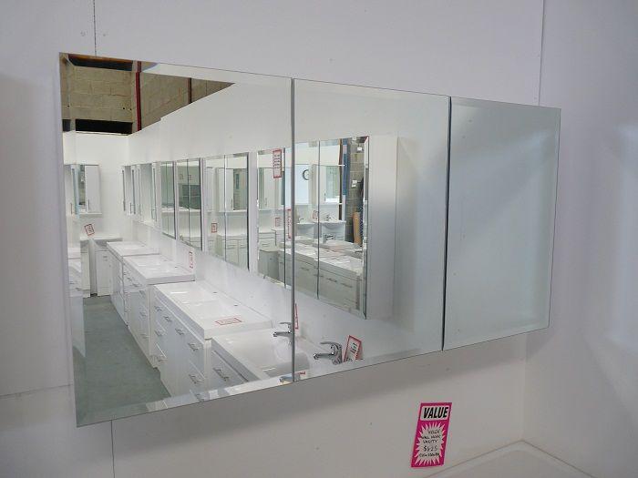 1200 Bathroom Mirror Door Shaving Cabinet With Beveled Edges Ridler  Bathrooms DAndenong