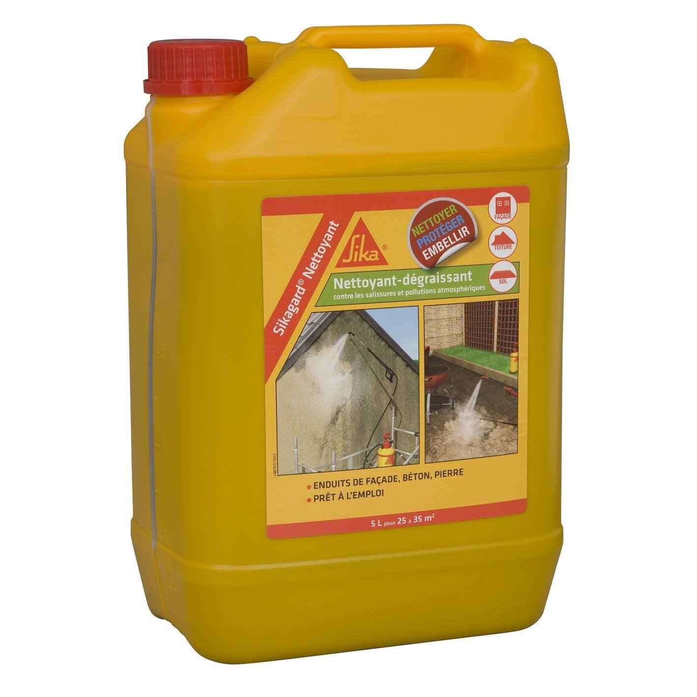 Nettoyant Desincrustant Sika Sikagard 5 L Incolore Nettoyant Degraissant Nettoyage Facade