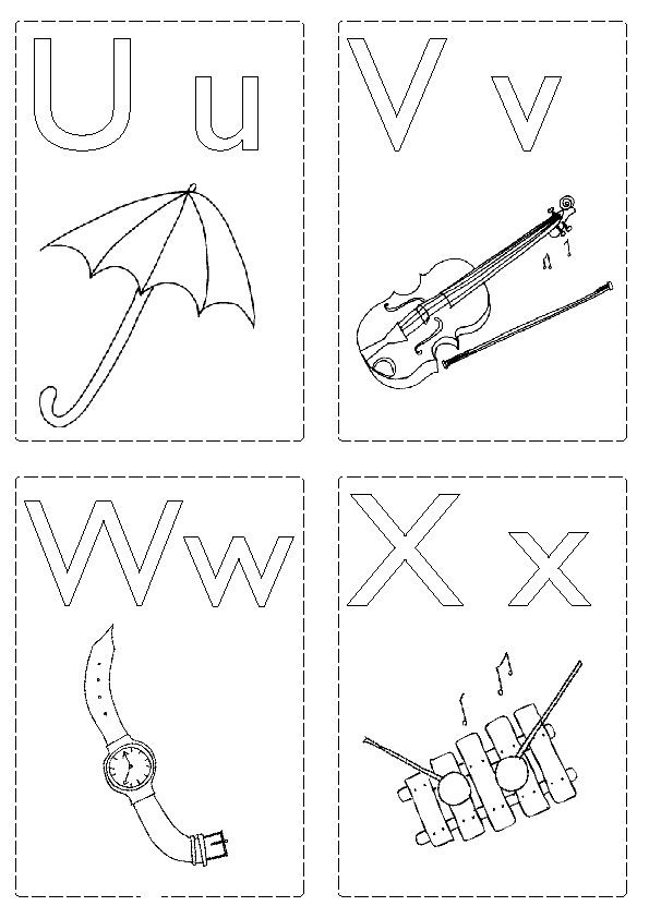 U X Jpg 595 842 Abc Flashcards Abc Coloring Pages Printable Flash Cards