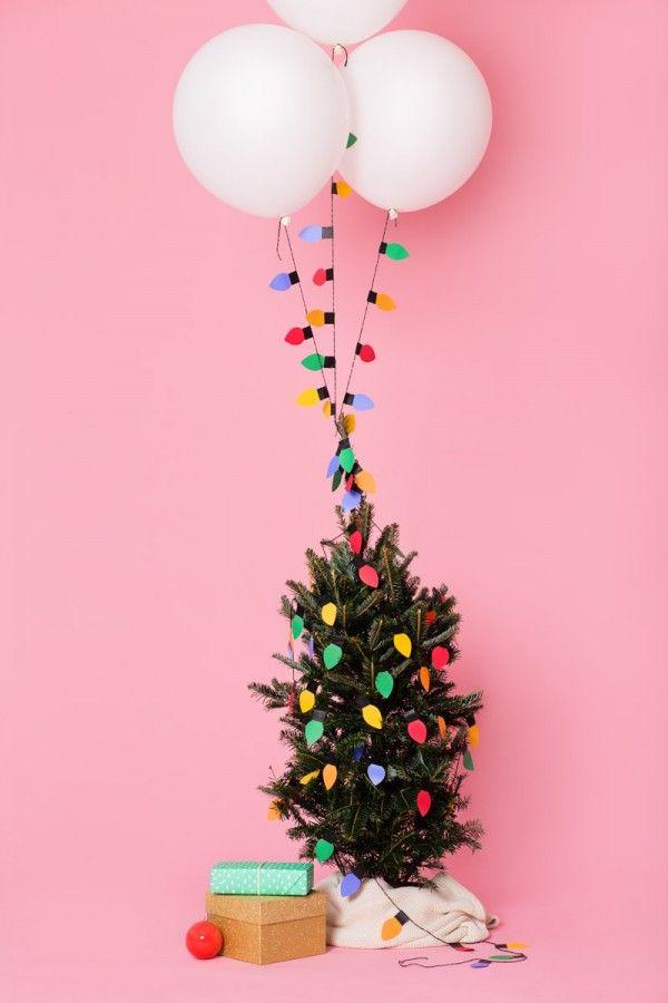 Diy christmas light balloon garlands balloon garland for Water balloon christmas decorations