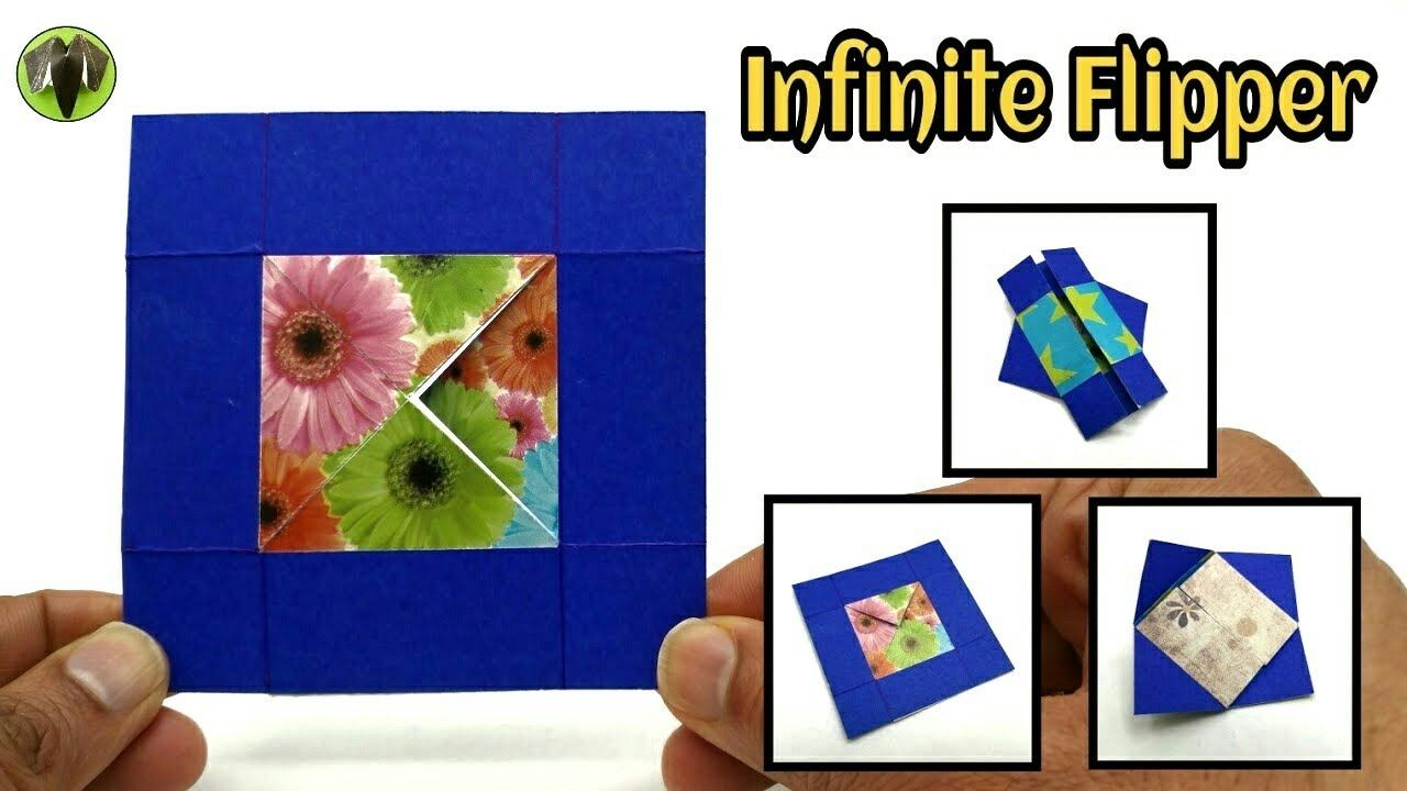 Infinite Flipper Never Ending Card From One Paper Sheet Diy