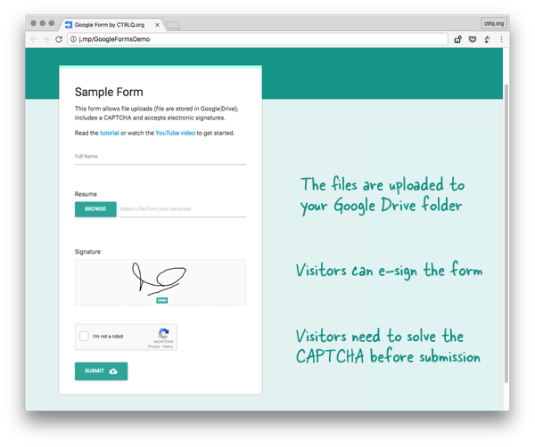 How To Create Forms That Allow File Uploads To Google Drive Digital Inspiration Google Forms Curriculum Vitae Format Google Spreadsheet