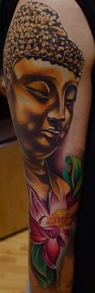 Buddha Lotus Flower Tattoo