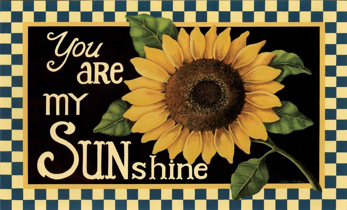 Küchenteppich Retro You Are My Sunshine Decorative Sunflower Floor Mat Lang Spring