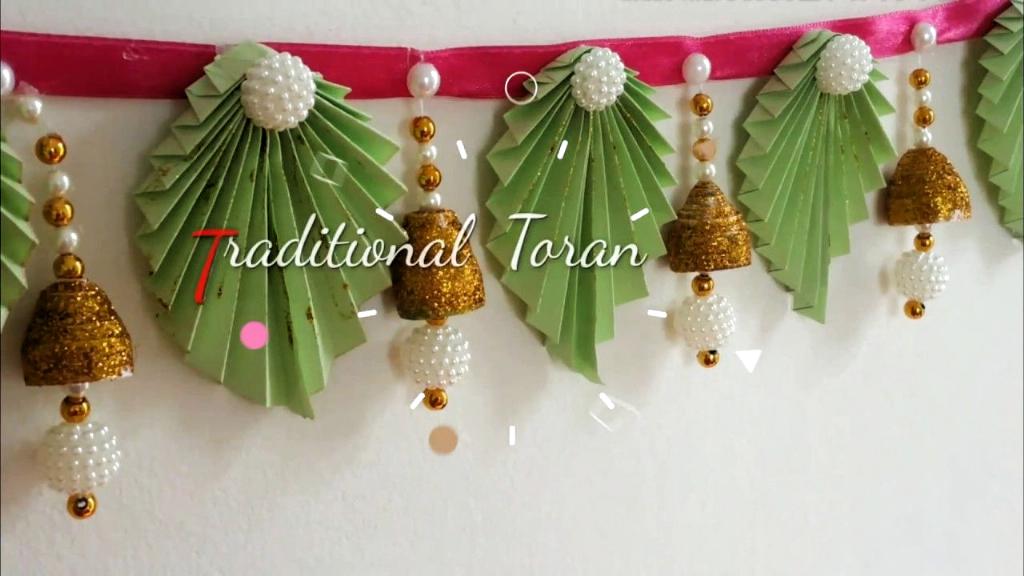 DIY Trendy Toran / Türbehänge mit Papier zu Hause | Diwali Dekorationsideen | einfache bandha...