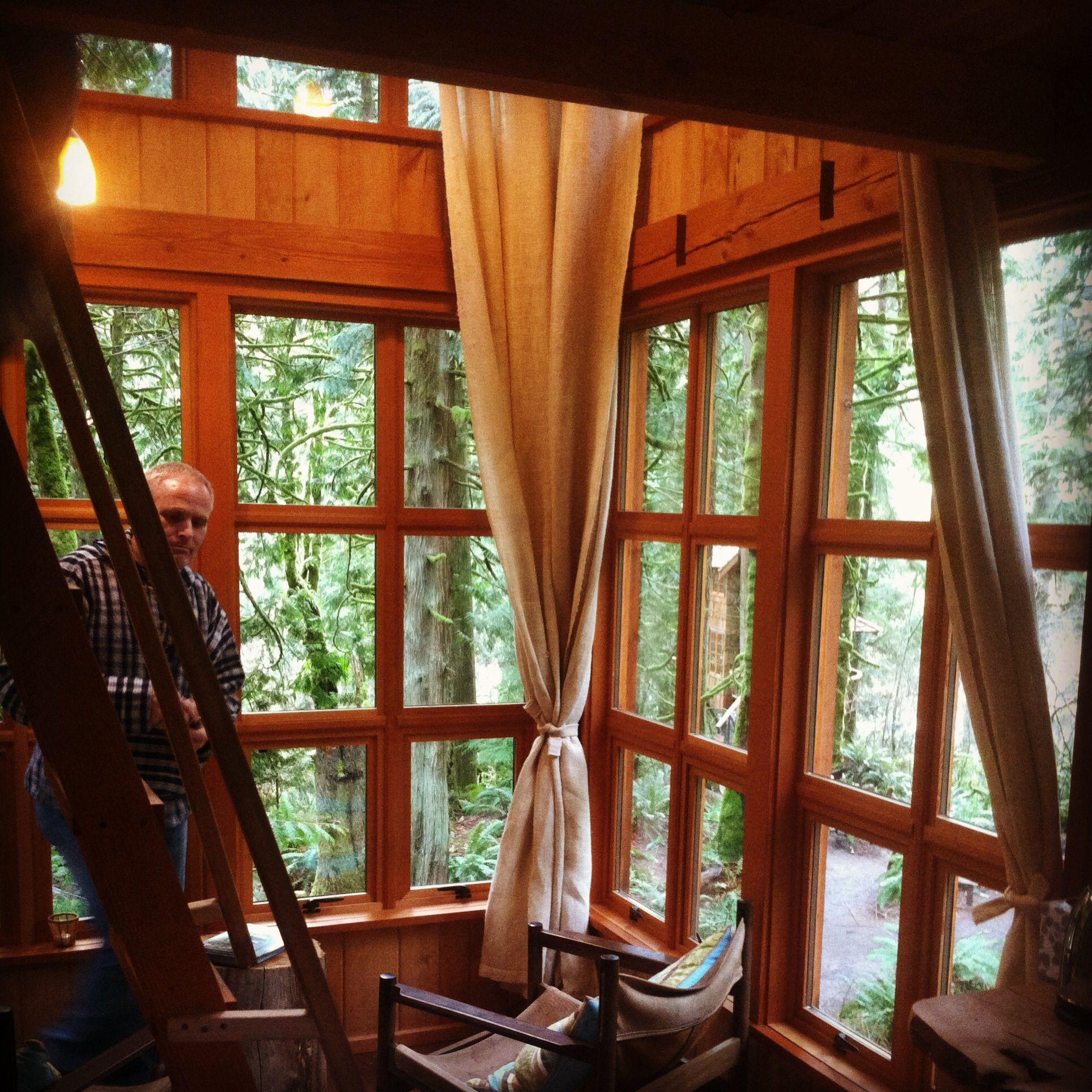 Treehouse Fall City Wa Part - 30: Inside Trillium Treehouse, Treehouse Point Fall City Washington #treehouse  #fallcity #washington #