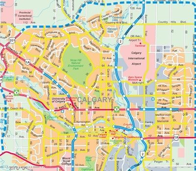 Calgary map Calgary 2015 Pinterest