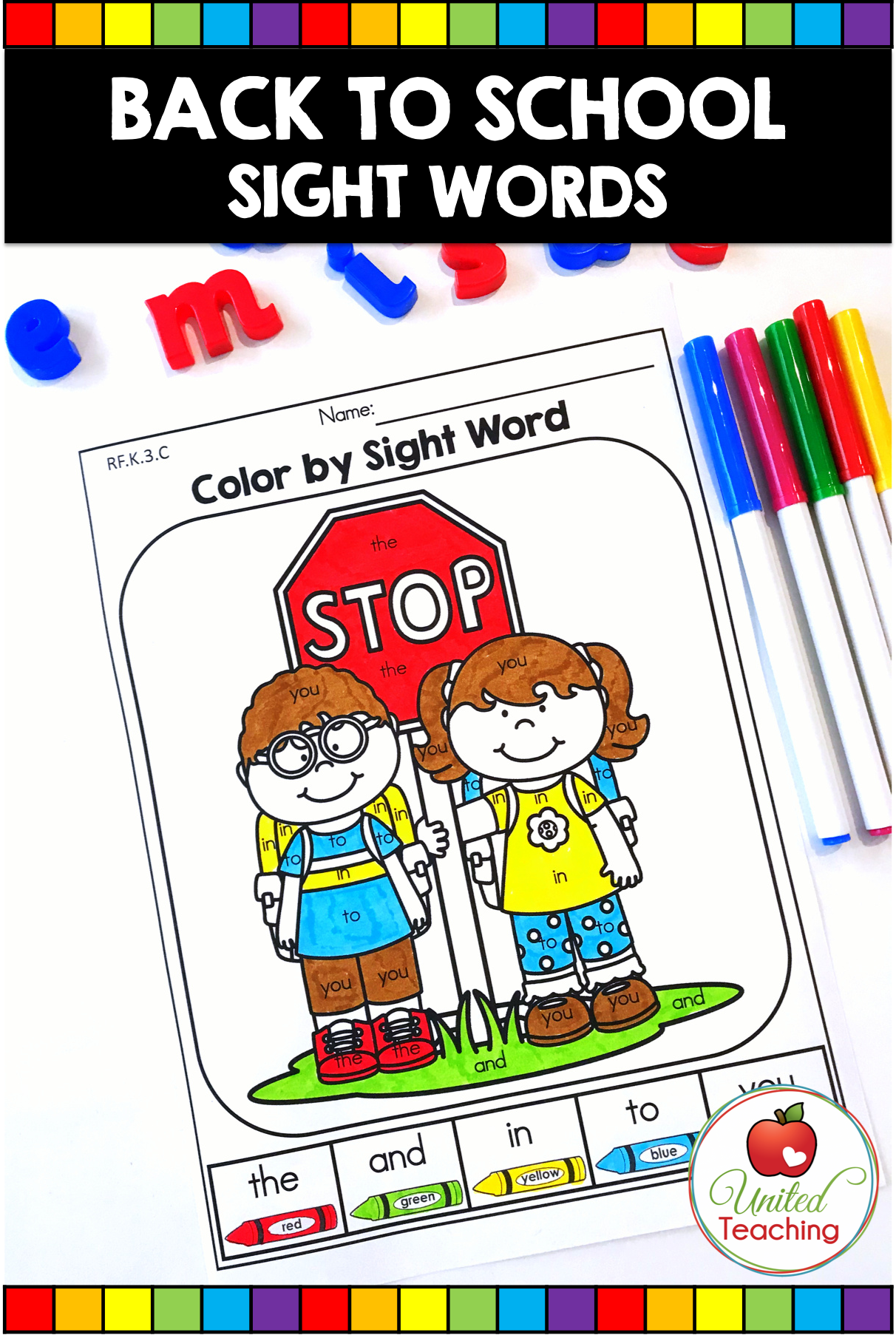 Back To School Literacy Worksheets Kindergarten