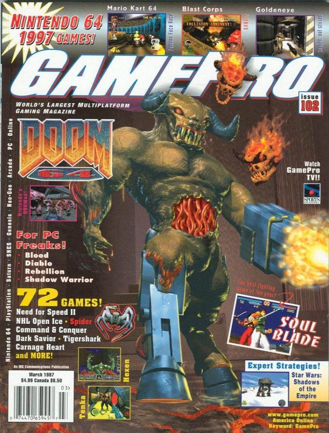 Gamepro Doom 64 | Game magazines | Video game magazines, Classic