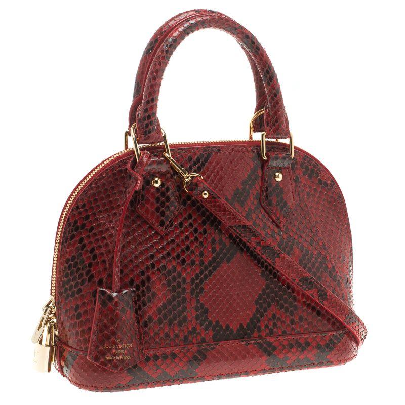 8bc7dbc0cef Louis Vuitton Red Python Alma BB Bag - Buy   Sell - LC