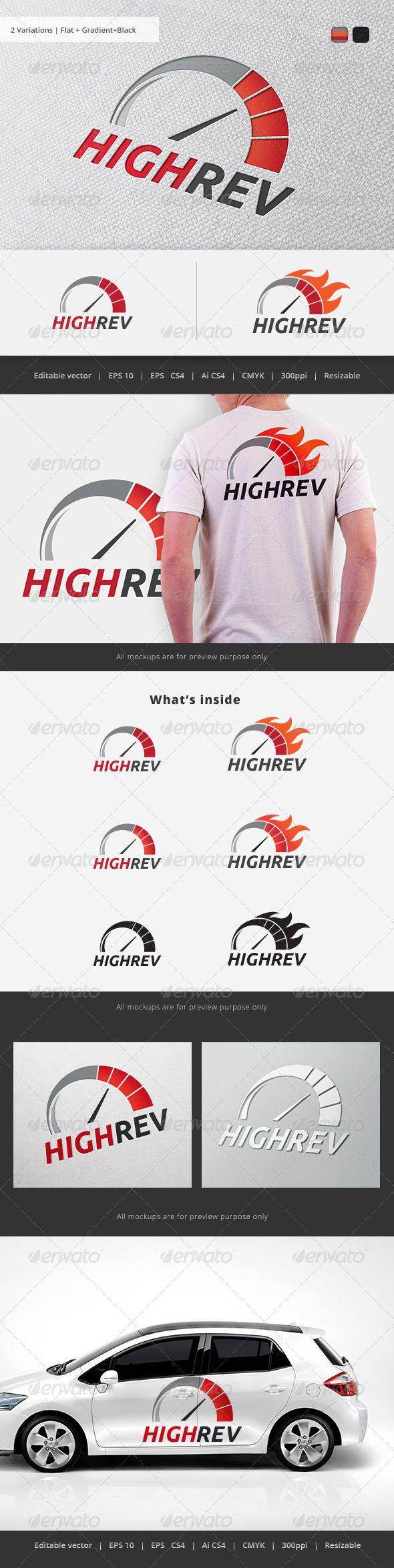 High Rev Speedo Logo Logo Design Template Logo Design Premade Logo Templates