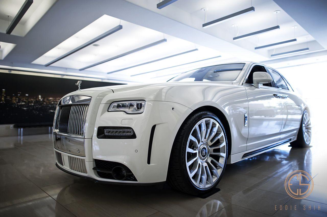 Photo of Eddie Shih ʘ‿ʘ — Mansory Rolls-Royce Ghost in English White.