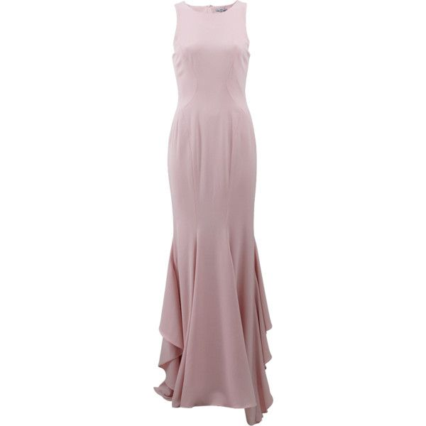 Zac Zac Posen Rivka Gown (€1.125) ❤ liked on Polyvore featuring dresses, gowns, long dress, vestidos, zac posen, brown evening dress, floor length evening dresses, form fitting long dresses, draped gown and floor length dress