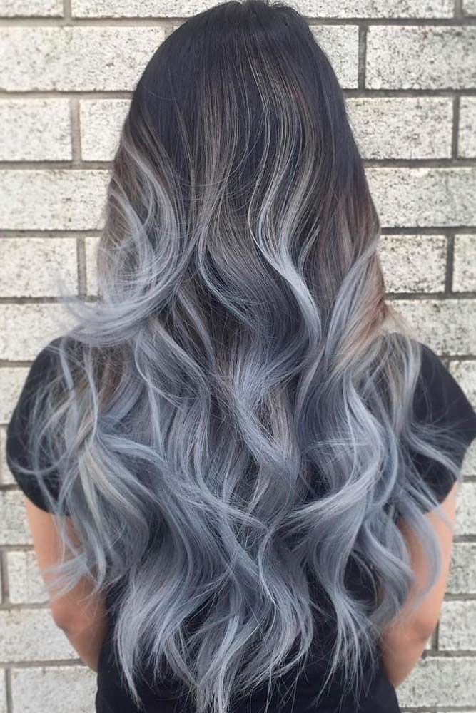27 try grey ombre hair this season hair pinterest cabello tinta y cabellos pintados. Black Bedroom Furniture Sets. Home Design Ideas