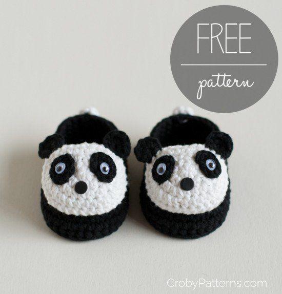 Cute Crochet Panda Free Patterns | Pantunflas, Tejido y Mono