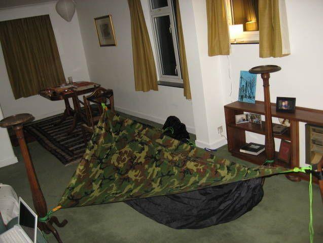 DIY Asymmetrical Hammock Tent With Tarp Homemade