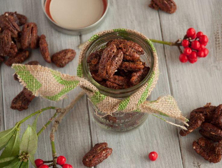 These spiced pecans have an addicting balance of salty and sweet, with a hint of spice and a toasty decadent richness that is perfect for the holidays - Feasting Not Fasting