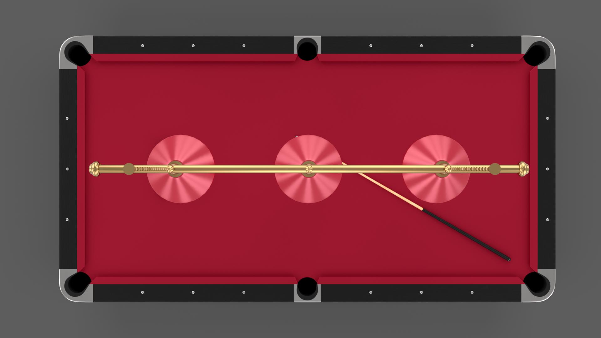 8 Ball Pool Table Setting Red Pool Table Pool Balls Table Settings